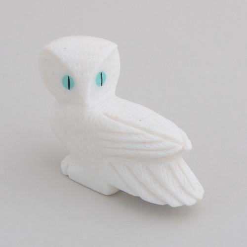 Alabaster Owl.  The Owl Symbolizes Wisdom and Insight.