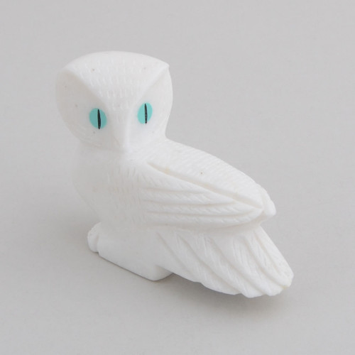 Alabaster Owl.  The Owl Symbolizes Wisdom and Insight.