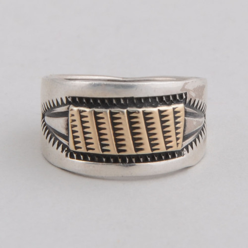 Sterling Silver  & 14K Gold Ring by James Pioche