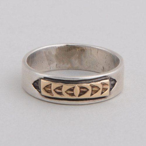 Sterling Silver & 14 Gold Ring By Victor Hicks