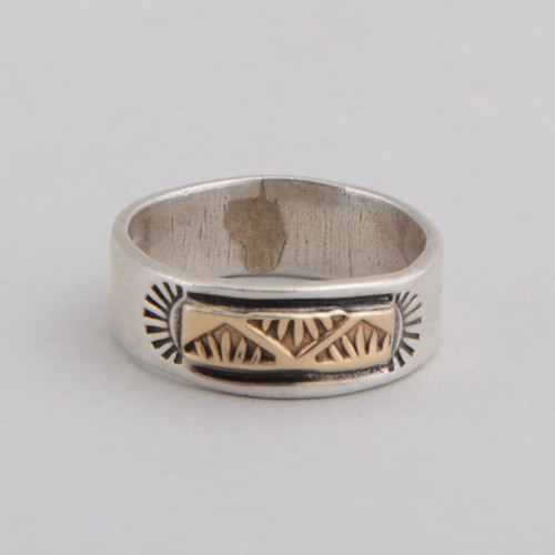 Sterling  Silver & 14K Gold RIng by Victor Hicks