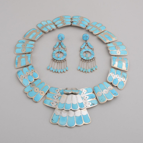 Sleeping Beauty Turquoise Necklace & Earring Set by Federico
