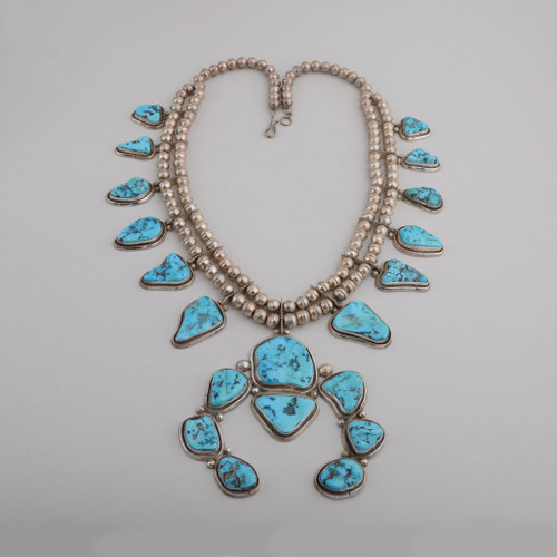 Squash Blossom Style Necklace by James Henry Johnson, circa 1970