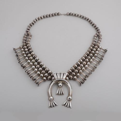 Squash Blossom Necklace by Leonard Benally (D), circa 1070