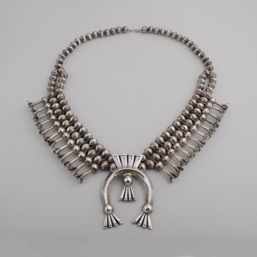 Squash Blossom Necklace by Leonard Benally (D), circa 1070