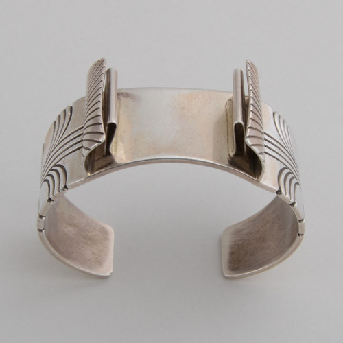 Sterling Silver Watchband Cuff top