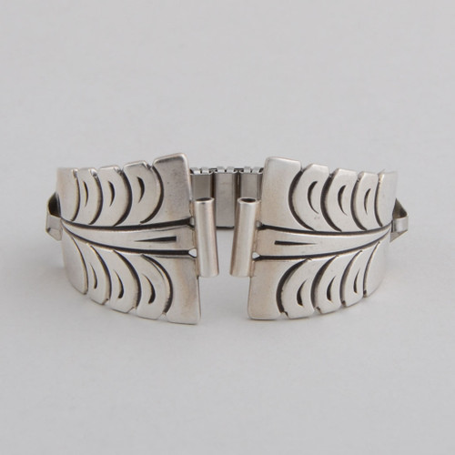 sterling silver watchband front