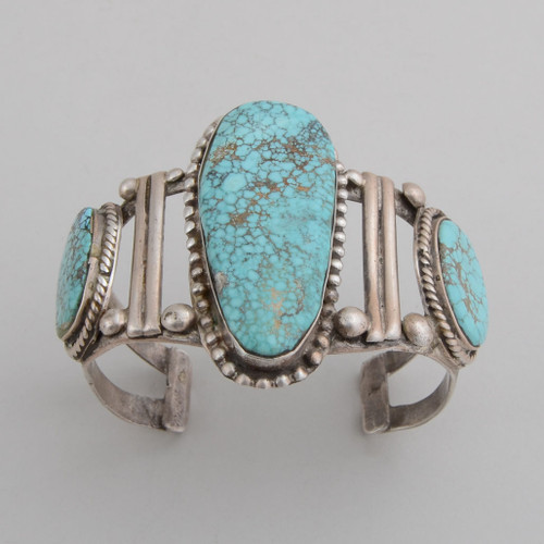 Sterling Silver and Turquoise Cuff Bracelet top