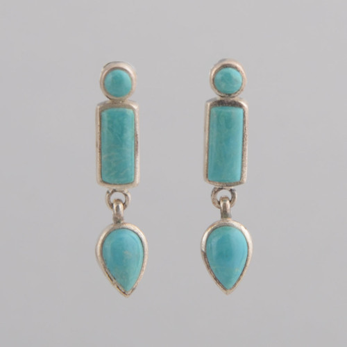 These Peyote Bird earrings feature Sleeping Beauty Turquoise and Sterling Silver!