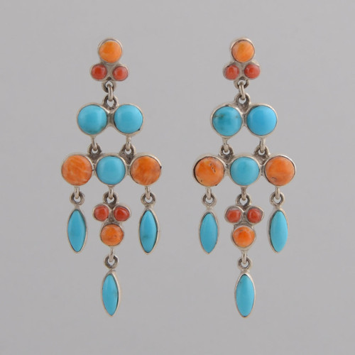 These Peyote Bird earrings feature multiple stones and Sterling Silver!