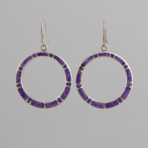 These Peyote Bird earrings feature Sugilite and Sterling Silver!