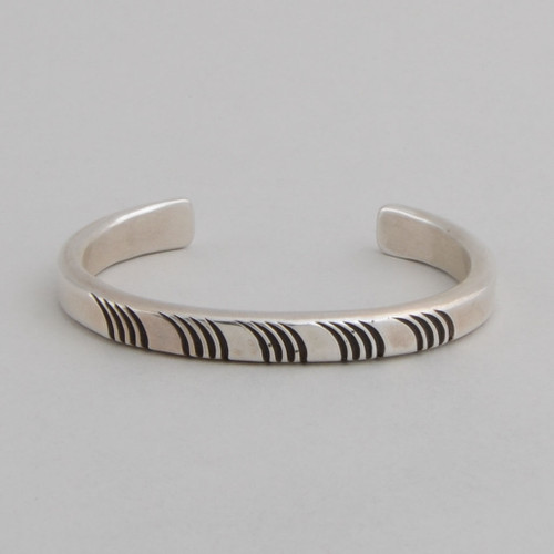 Simple sterling silver cuff.
