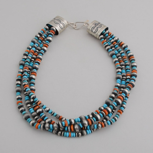 This wonderful multi-stranded, multi-stone beaded necklace has the versatility and style you have been looking for!