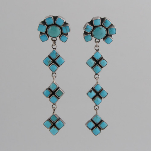 A beautiful, simple and elegant pair of Turquoise drop earrings by Federico Jimenez.