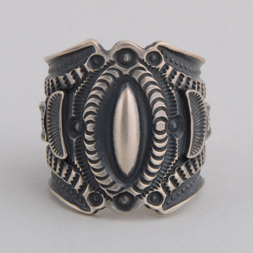 Bold sterling silver band style ring.