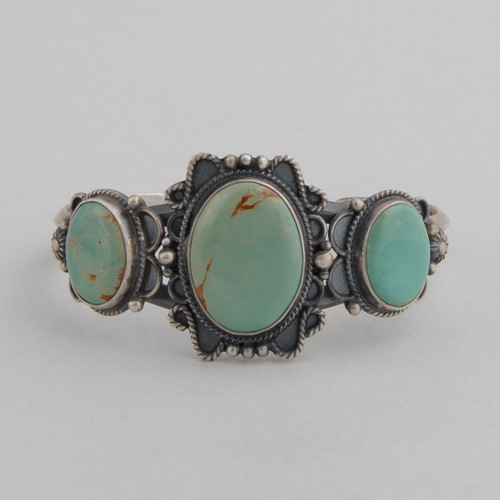 Sterling silver cuff with Turquoise.