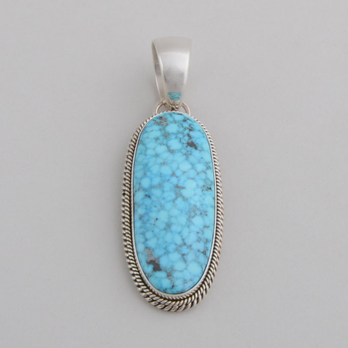 This Artie Yellowhorse Turquoise pendant is gorgeous!  Very simple, very elegant!
