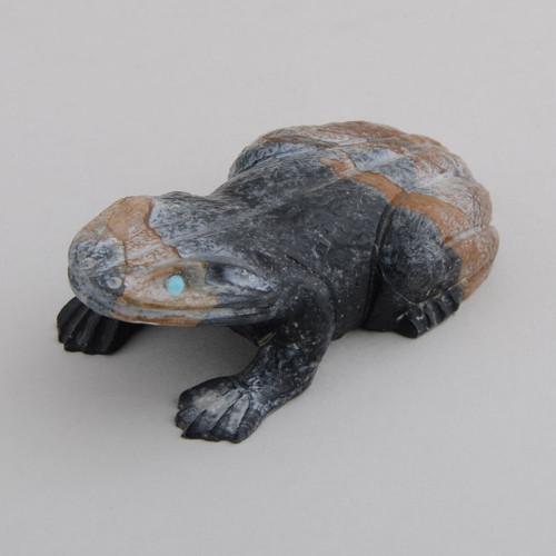 Detailed carved frog fetish.