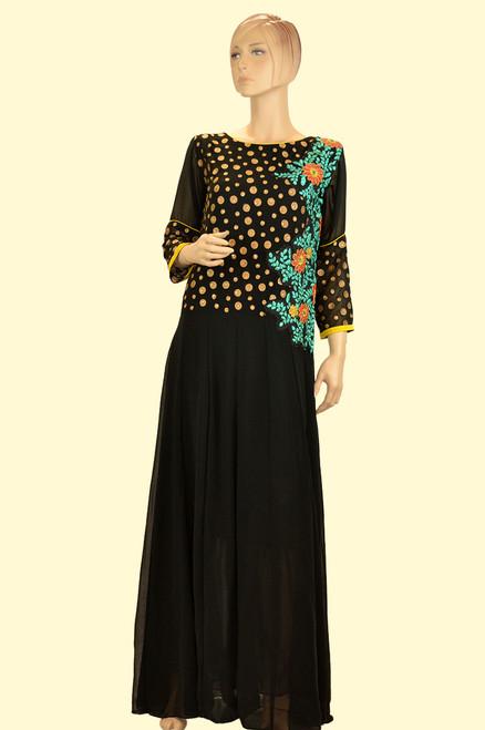 Block Gown Dress (D0333)