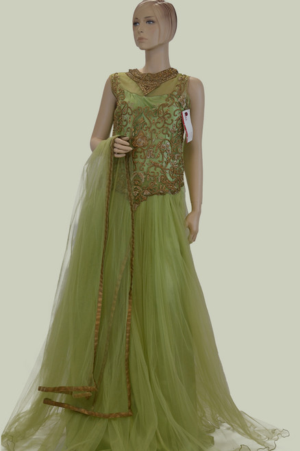 Light green floor length gown ( D0586 )