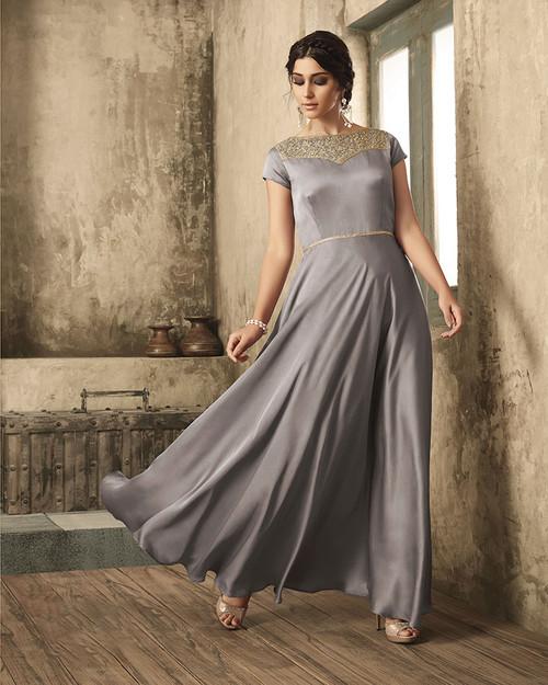 Grey Color Dress (D1026)