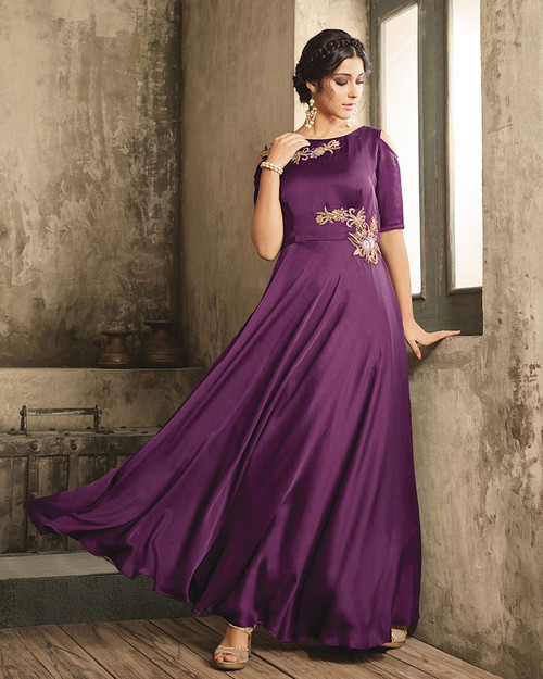 Purple Color Dress (D1027)