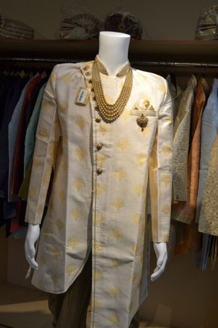 Cream Color Indo Western Sherwani (M0358A)
