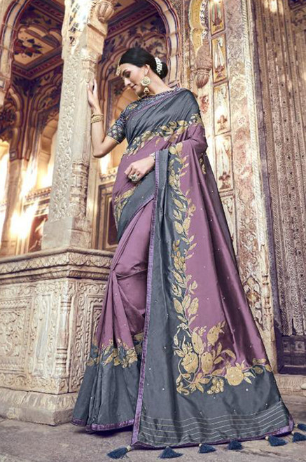 Grey Color Saree (S0632)