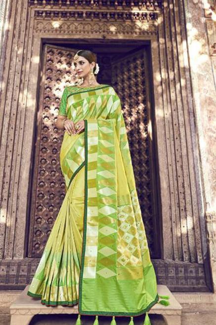 Light Green Banarasi Silk Saree (S0632I)
