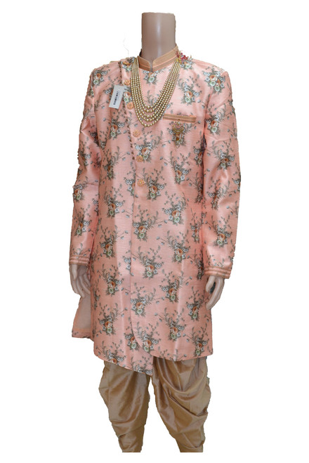 Pink Indo-Western Sherwani( M0359)