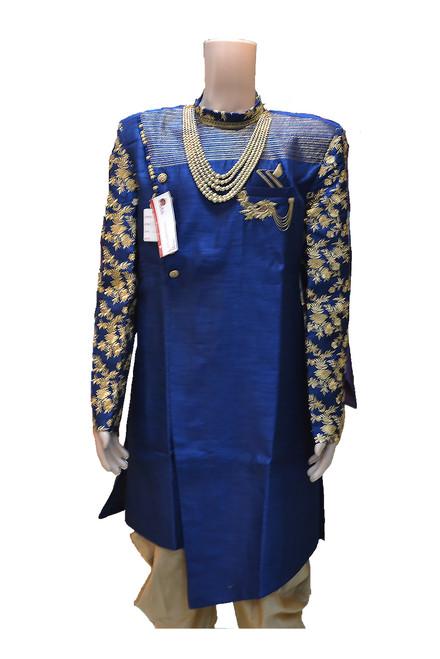 Blue Indo Western Sherwani (M0349A)