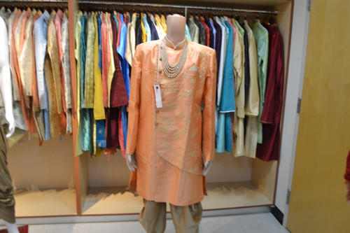 Light Orange Color Indo Western Sherwani (M0350A)
