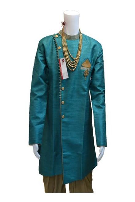 Teal Color Kurta Pajama (M0353C)