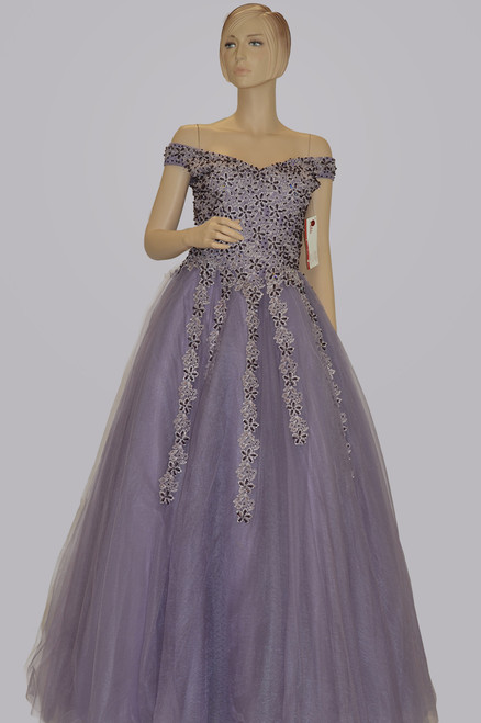 Purple color gown | (D1082)