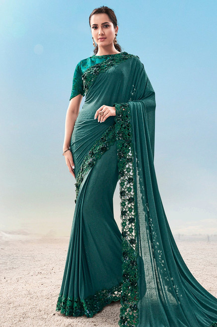 Rama Green Color Sari (S0638)