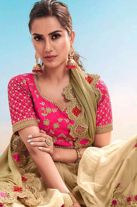 Beige Color Sari (S0640)