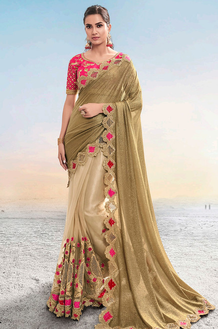 Beige Color Sari (S0640)