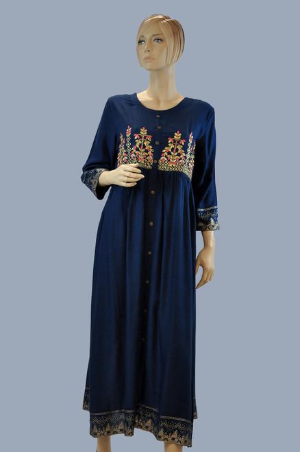 Blue Color Cotton Kurti (T0221)