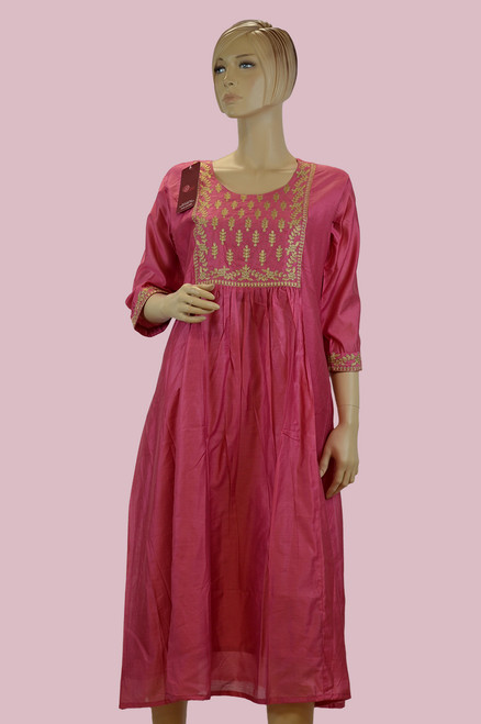Pink Color Cotton Kurti (T0211)