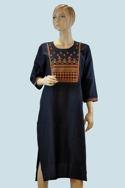 Blue Color Cotton Kurti (T0195)