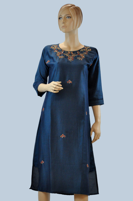 Blue Color Cotton Kurti (T0208)