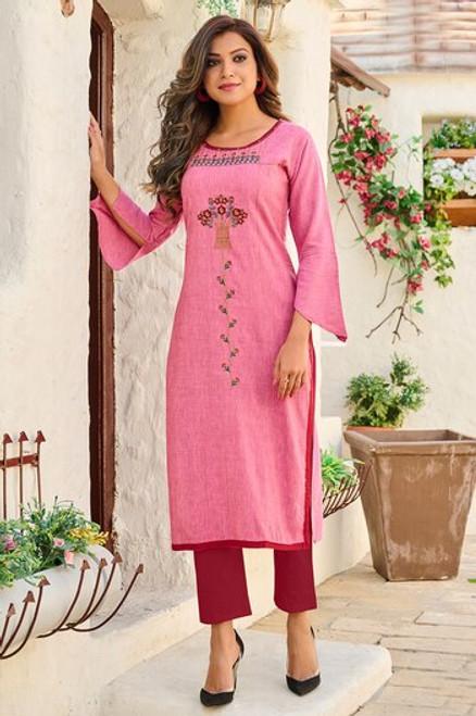 Pink Color Kurti (T0267)