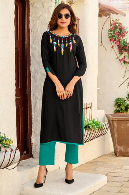 Black Color Kurti (T0268)