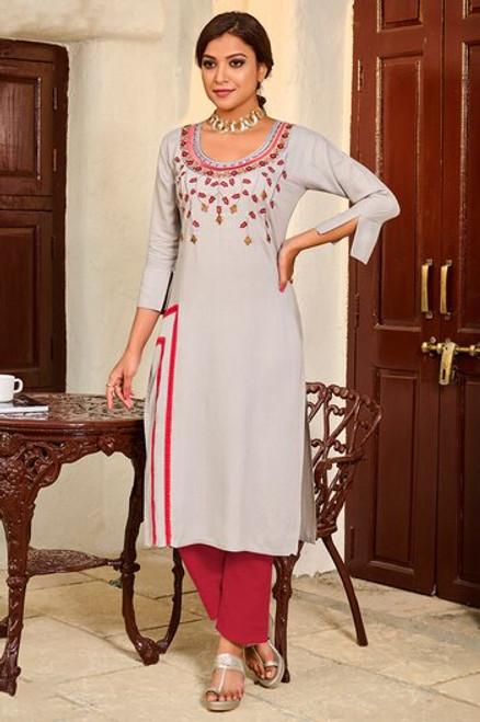 Grey Color Kurti (T0269)