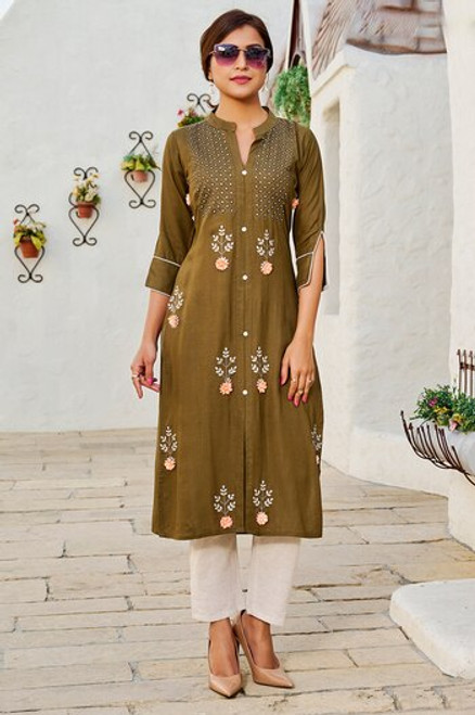 Brown Color Kurti (T0270)