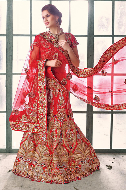 Appealing Red Lehenha (L0052)