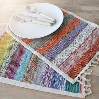 Upcycled Sari Placemat
