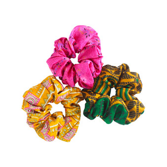 Upcycled Silk Scrunchies