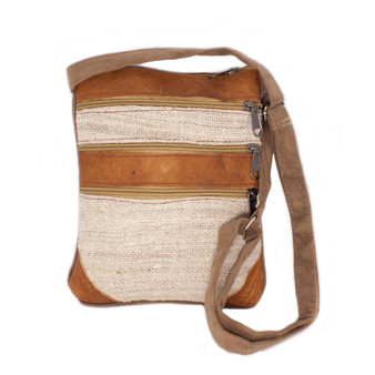 Hemp Leather Passport Bag