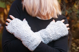 Wool Knitted Mittens Gloves